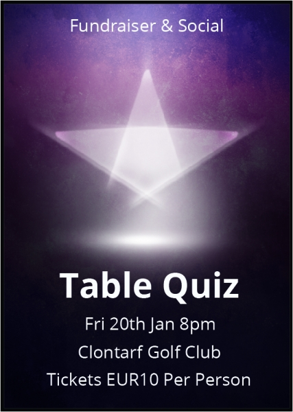 Table quiz poster