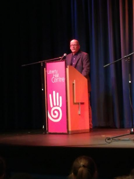 9. Roddy Doyle speaking at the Liberty Hall Theatre